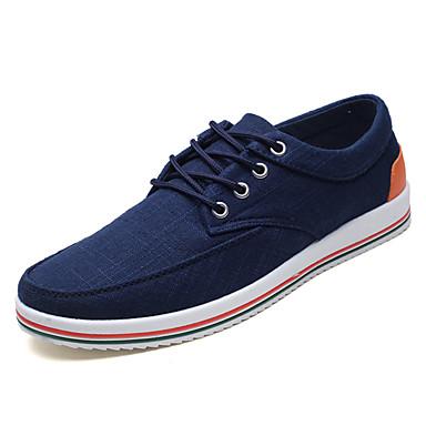 בגדי ריקוד גברים נעלי נוחות PU אביב / סתיו נעלי ספורט לבן / אפור / כחול / בָּחוּץ