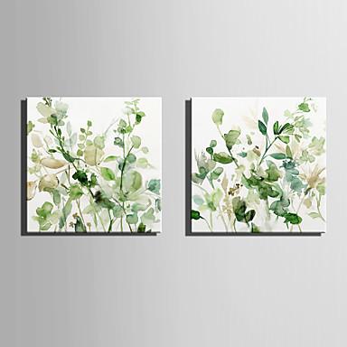 abordables Toiles-Toile Moderne, Deux Panneaux Toile Carré Imprimé Décoration murale Décoration d'intérieur