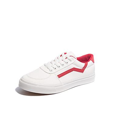 בגדי ריקוד גברים בד אביב / סתיו נוחות נעלי ספורט לבן / שחור / ורוד ולבן
