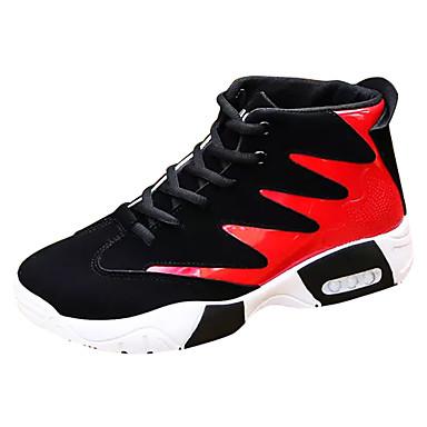 בגדי ריקוד גברים נעלי נוחות PU סתיו / חורף נעלי אתלטיקה שחור לבן / שחור אדום / שחור / כחול / כדורסל