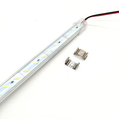 billige LED Strip Lamper-zdm 100cm 72 x 8520 smd leds super lyse harde lampe striper varm hvit / kald hvit gjennomsiktig maske fortykket aluminium skall dc12 v