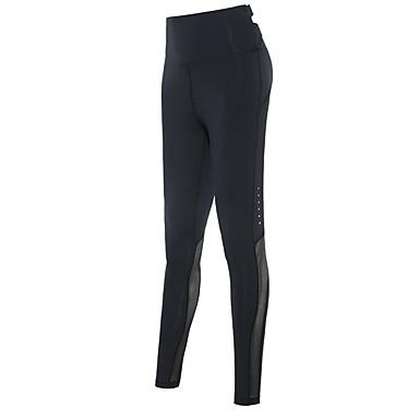 בגדי ריקוד נשים טייץ לריצה - שחור, אפור ספורט טייץ רכיבה על אופניים / חותלות לבוש אקטיבי ייבוש מהיר, באט הרם