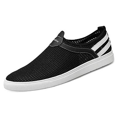 בגדי ריקוד גברים נעלי נוחות PU אביב / סתיו נעלי ספורט שחור / כחול