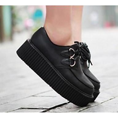 povoljno Ženske cipele-Žene Oksfordice Creepersice PU Udobne cipele Proljeće / Jesen Obala / Crn / EU39