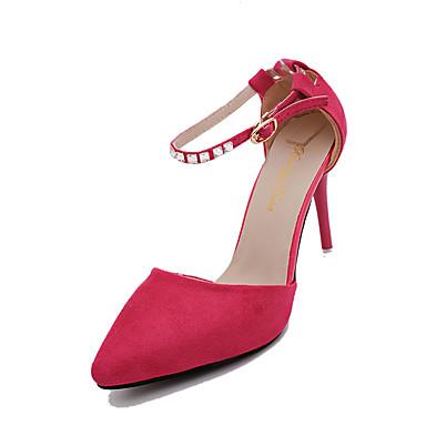 נעליים קשמיר סתיו נוחות עקבים עקב סטילטו בוהן מחודדת ריינסטון פוקסיה / אדום / כחול / שמלה