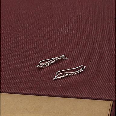 בגדי ריקוד נשים עגילים צמודים - Leaf Shape אופנתי זהב / כסף עבור Party / יומי