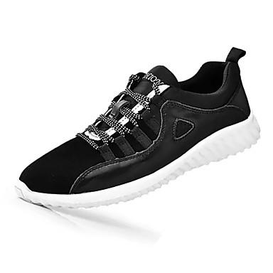 בגדי ריקוד גברים עור / PU אביב / סתיו נוחות נעלי אתלטיקה שחור / ריצה