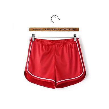 בגדי ריקוד נשים שורט לריצה - שחור, אדום, כחול ספורט מכנסיים לבוש אקטיבי ייבוש מהיר, נשימה