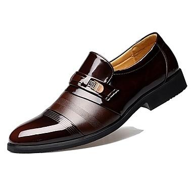 Χαμηλού Κόστους Shoes Trends-Παπούτσια άνεσης Λουστρίν Άνοιξη / Φθινόπωρο Δουλειά Μοκασίνια & Ευκολόφορετα Μαύρο / Καφέ / Πάρτι & Βραδινή Έξοδος