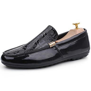 בגדי ריקוד גברים PU אביב / סתיו נוחות נעליים ללא שרוכים לבן / שחור / אדום