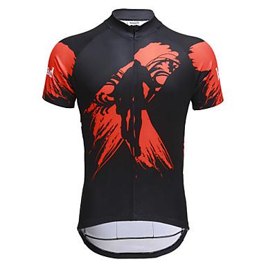 Jaggad Erkek Kısa Kollu Bisiklet Forması Bisiklet Forma, Hızlı Kuruma, Nefes Alabilir Polyester, Coolmax®