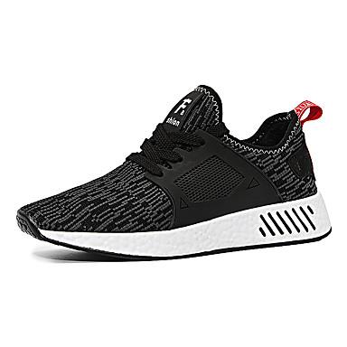 בגדי ריקוד גברים טול אביב / סתיו נוחות נעלי אתלטיקה ריצה שחור / אפור / אדום