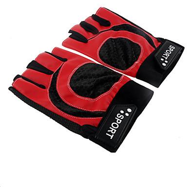 כפפות ספורט/ פעילות לביש / נושם / מונע החלקה בלי אצבעות עור PU רכיבה בכביש / ספורט רב פעילותי / רכיבה על אופניים / אופנייים יוניסקס