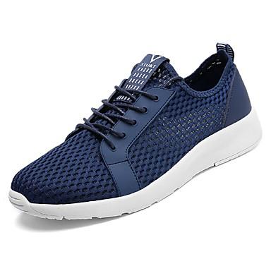 נעליים PU אביב סתיו נוחות נעלי ספורט ל בָּחוּץ שחור אפור כחול