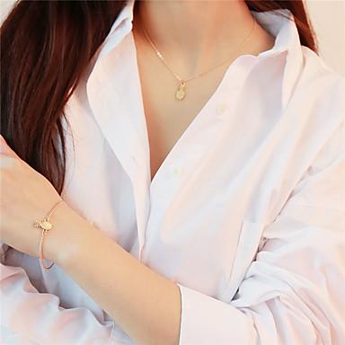 abordables Parure Bijoux-Femme Collier Pendentif Bracelet Ananas Fruit dames Des boucles d'oreilles Bijoux Dorée Pour Quotidien Ecole