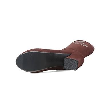 Bottes Strass Printemps Cuir Noir Chaussures Bottier Hiver 06531934 Confort Bottes Femme Talon Bout Bottes Orange à la Nubuck rond Mode tqvxSpwpca