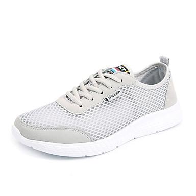 בגדי ריקוד נשים נעליים PU אביב / סתיו נוחות נעלי אתלטיקה שטוח שחור / אפור / כחול