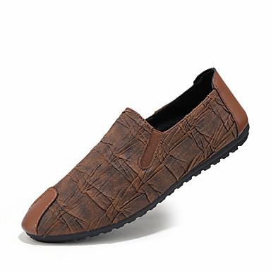 Homme Chaussures de confort Faux Cuir / Polyuréthane Printemps Mocassins et Chaussons+D6148 Noir / Brun claire / De plein air