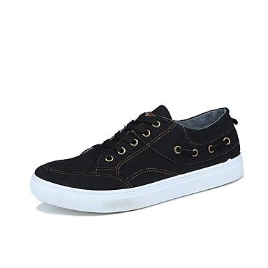 בגדי ריקוד גברים ג'ינס אביב / סתיו נוחות נעלי ספורט שחור / אפור כהה / כחול