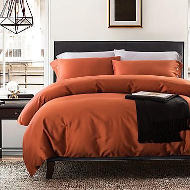 Solide 4 Stück Seide Baumwolle Handgemacht Seide Baumwolle 1 Stk. Bettdeckenbezug 2 Stk. Kissenbezüge 1 Stk. Betttuch