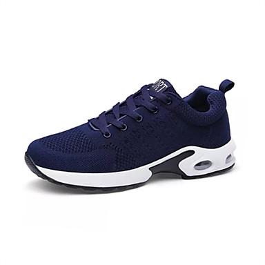 Heren Schoenen PU Lente Herfst Sneakers voor ulko- Grijs Blauw zwart/wit
