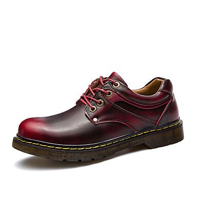 נעליים PU אביב סתיו נוחות נעלי אוקספורד ל בָּחוּץ אפור חום בורדו