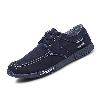 בגדי ריקוד גברים PU אביב / סתיו נוחות נעלי אתלטיקה אפור / כחול