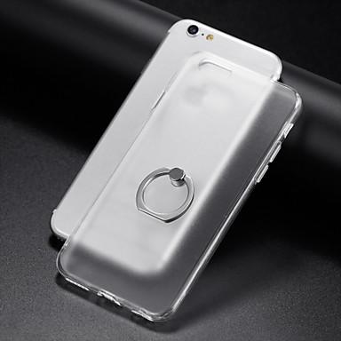 Etui Käyttötarkoitus Apple iPhone 6 iPhone 7 Plus iPhone 7 Sormuksen pidike Läpinäkyvä Takakuori Yhtenäinen väri Pehmeä TPU varten iPhone