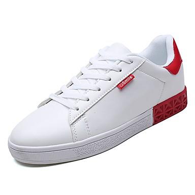 נעליים PU אביב / סתיו נוחות נעלי ספורט קולור בלוק אדום / שחור לבן / לבן וירוק