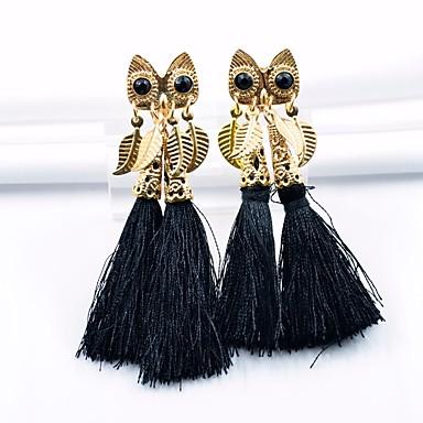 בגדי ריקוד נשים עגילי טיפה - ינשוף צִיצִית, וינטאג' שחור עבור Party יומי