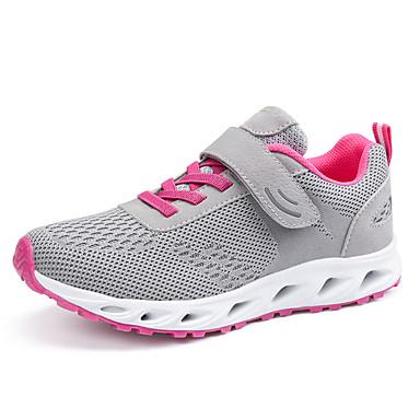 בגדי ריקוד נשים נעליים PU אביב / סתיו נוחות נעלי אתלטיקה הליכה שטוח אפור / כחול