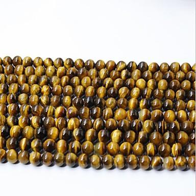 Gioielli Fai-da-te 65 Pezzi Perline Cristallo Giallo Tonda Perlina 0.6 Cm Fai Da Te Collana Bracciali #06521671 Buon Sapore
