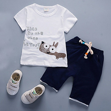cheap Boys Clothing Set Best Sellers-Toddler Boys' Casual Daily Solid Colored Short Sleeve Cotton Clothing Set Yellow