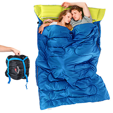 Naturehike Sleeping Bag Outdoor Double Size +5°C~+15°C Double Wide Bag Keep Warm Moistureproof Ultra Light (UL) Windproof Dust Proof for