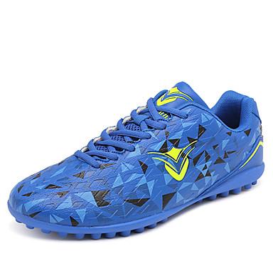 בגדי ריקוד גברים נעליים עור PVC אביב / סתיו נוחות נעלי אתלטיקה כדורגל אדום / ירוק בהיר / כחול ים