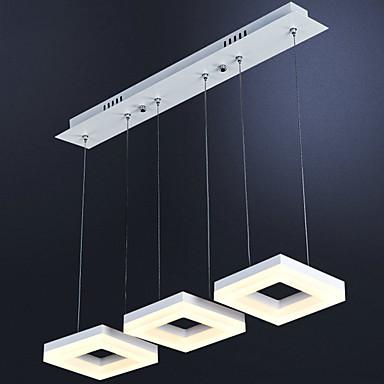 3-luz Racimo Lámparas Colgantes Luz Ambiente - Mini Estilo, LED, 110-120V / 220-240V, Blanco Cálido / Blanco, Fuente de luz LED incluida