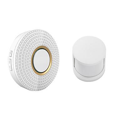 האזעקה האלחוטית אבטחה 110-220v 52 רינגטונים (דלת פעמון& 433mhz חיישן אנושי)