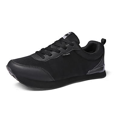 בגדי ריקוד גברים נעלי נוחות עור נובוק / סוויד / דמוי עור אביב נעלי אתלטיקה ריצה / טיפוס / רכיבת אופניים שחור / הליכה