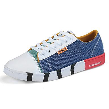 בגדי ריקוד גברים PU אביב / סתיו נוחות נעלי ספורט חום / ירוק / כחול