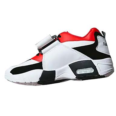 בגדי ריקוד גברים נעלי נוחות PU אביב / סתיו נעלי אתלטיקה קולור בלוק לבן / שחור / אדום / ריצה