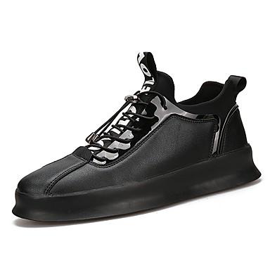בגדי ריקוד גברים נעלי נוחות PU אביב / סתיו נעלי אתלטיקה לבן / שחור / אדום