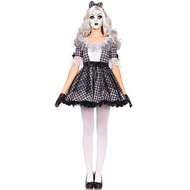 ערפדים תחפושות קוספליי בגדי ריקוד נשים האלווין (ליל כל הקדושים) פסטיבל / חג תחפושות ליל כל הקדושים שחור משובץ / משבצות