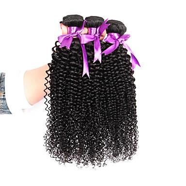 3 חבילות שיער ברזיאלי Kinky Curly שיער אנושי טווה שיער אדם 8-28 אִינְטשׁ שוזרת שיער אנושי 8 א תוספות שיער אדם בגדי ריקוד נשים / קינקי קרלי