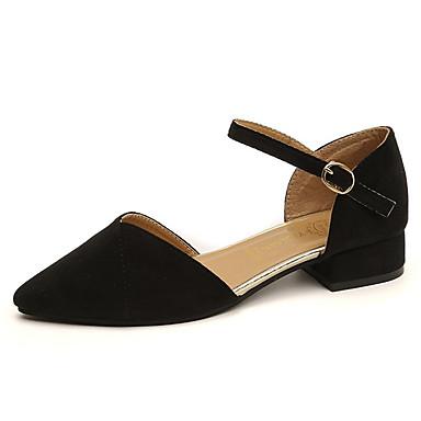 בגדי ריקוד נשים נעליים PU אביב / סתיו נוחות שטוחות עקב נמוך שחור / חאקי
