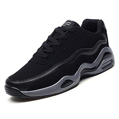 בגדי ריקוד גברים גומי אביב / סתיו נוחות נעלי אתלטיקה קולור בלוק שחור / שחור לבן / שחור אדום