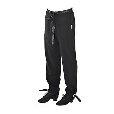 ריקוד לטיני חלקים תחתונים בגדי ריקוד גברים הצגה ספנדקס סגנון רצועות תחבושות ללא שרוולים טבעי מכנסיים