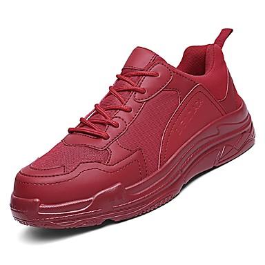 בגדי ריקוד גברים נעלי נוחות PU סתיו נעלי אתלטיקה כדורסל לבן / שחור / אדום