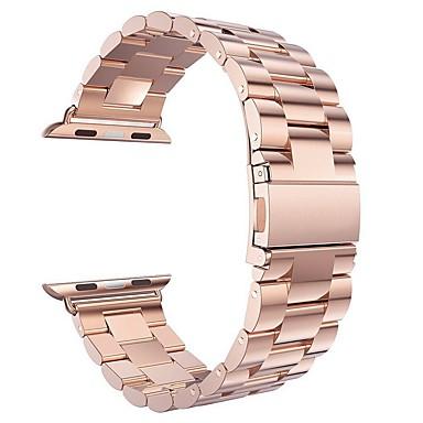 Watch Band için Apple Watch Series 3 / 2 / 1 Apple kelebek Toka Çelik Bilek Askısı