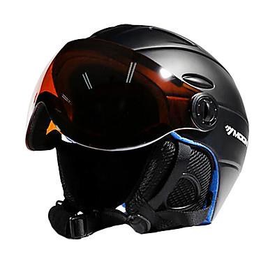 MOON Ski Helmet Unisex Adults' Ski / Snowboard Adjustable One Piece Helmet with Goggles Urban Ultra Light (UL) Sports Youth PC EPS CE
