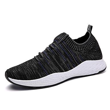 בגדי ריקוד גברים טול אביב / סתיו נוחות נעלי ספורט אפור בהיר / שחור לבן / שחור / כחול